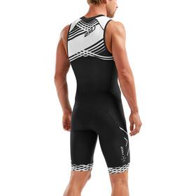 2XU Compression Traje triatlón Cremallera completa Hombre, black/black white lines